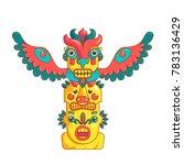 cute cartoon totem vector... | Shutterstock .eps vector #783136429