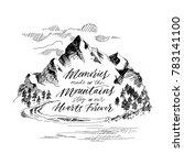 inspiring mountain calligraphy. ... | Shutterstock .eps vector #783141100