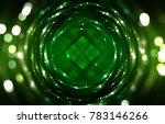 abstract shining green bokeh... | Shutterstock . vector #783146266