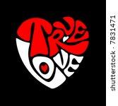 True Love Heart. Vector