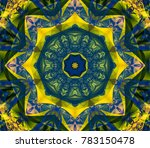 abstract gothic fractal with... | Shutterstock . vector #783150478