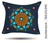 bed linen design. pillow with... | Shutterstock .eps vector #783151390