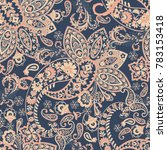 paisley seamless pattern.... | Shutterstock .eps vector #783153418