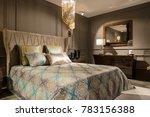 luxury bedroom interior with...   Shutterstock . vector #783156388