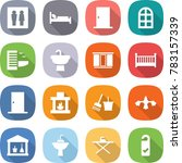 flat vector icon set   wc... | Shutterstock .eps vector #783157339