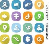 flat vector icon set   pointer... | Shutterstock .eps vector #783157474