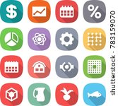 flat vector icon set   dollar... | Shutterstock .eps vector #783159070
