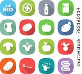 flat vector icon set   bio... | Shutterstock .eps vector #783160114