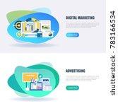 flat concept web banner of... | Shutterstock .eps vector #783166534