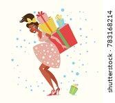 pretty girl whit christmas...   Shutterstock .eps vector #783168214