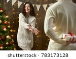 happy couple give gifts in...   Shutterstock . vector #783173128