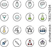 line vector icon set   pill... | Shutterstock .eps vector #783174334