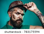 builder in protective clothing... | Shutterstock . vector #783175594