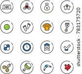 line vector icon set  ... | Shutterstock .eps vector #783175720