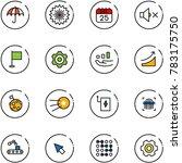 line vector icon set  ... | Shutterstock .eps vector #783175750