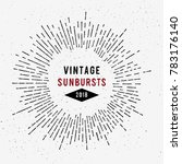 vintage  sunbursts emblem.... | Shutterstock .eps vector #783176140