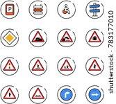 line vector icon set   parking... | Shutterstock .eps vector #783177010