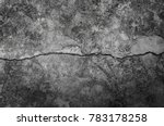 grungy wall with large crack... | Shutterstock . vector #783178258