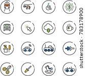 line vector icon set   train...   Shutterstock .eps vector #783178900
