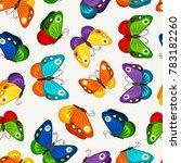 children butterfly seamless... | Shutterstock . vector #783182260