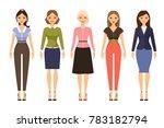 woman dresscode illustration.... | Shutterstock . vector #783182794