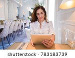 portrait of woman with white... | Shutterstock . vector #783183739