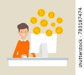 vector illustration of a man... | Shutterstock .eps vector #783187474