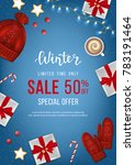 winter sale banner  poster ... | Shutterstock .eps vector #783191464