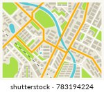 city map colored illustration... | Shutterstock . vector #783194224
