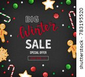 special offer winter sale.... | Shutterstock .eps vector #783195520