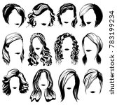 vector women fashion hairstyle... | Shutterstock .eps vector #783199234