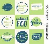 fresh  organic  gluten free ... | Shutterstock .eps vector #783199723