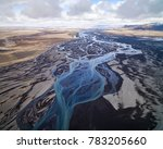 aerial photograph of a glacial... | Shutterstock . vector #783205660