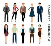 casual office people... | Shutterstock . vector #783209938
