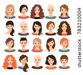 woman avatar set illustration....   Shutterstock . vector #783210004