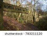north downs way fingerpost set... | Shutterstock . vector #783211120