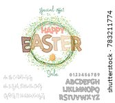 happy easter   font. vector... | Shutterstock .eps vector #783211774