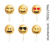 yellow balloons cool smile | Shutterstock .eps vector #783211996