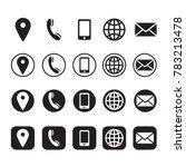 contact information icons, vector | Shutterstock vector #783213478