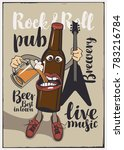 vector banner for rock and roll ... | Shutterstock .eps vector #783216784