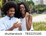african american couple loves... | Shutterstock . vector #783225100