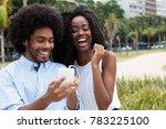 african american couple loves... | Shutterstock . vector #783225100
