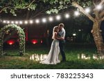 enamored newlyweds gently... | Shutterstock . vector #783225343