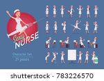 sexy nurse ready to use pin up...   Shutterstock .eps vector #783226570