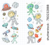 moon surface. kindergarten... | Shutterstock .eps vector #783232888