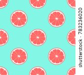pattern with grapefruit on a... | Shutterstock .eps vector #783236020