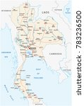 thailand road vector map | Shutterstock .eps vector #783236500