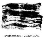 artistic freehand black paint ... | Shutterstock . vector #783243643