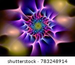 abstract multicolored spiral