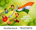 illustration of indian people... | Shutterstock .eps vector #783253876
